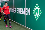 01.09.2019, wohninvest Weserstadion, Bremen, GER, 1.FBL, Werder Bremen vs FC Augsburg, <br /> <br /> DFL REGULATIONS PROHIBIT ANY USE OF PHOTOGRAPHS AS IMAGE SEQUENCES AND/OR QUASI-VIDEO.<br /> <br />  im Bild<br /> <br /> Spieler kommen vor dem Spiel zum warm machen aus dem Spielertunnel<br /> Michael Gregoritsch (FC Augsburg #11)<br /> <br /> <br /> Foto © nordphoto / Kokenge