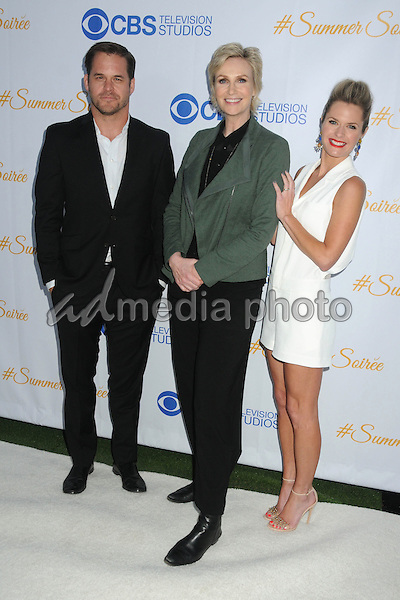 18 May 2015 - West Hollywood, California - Kyle Bornheimer, Jane Lynch, Maggie Lawson. 3rd Annual CBS Television Studios Rooftop Summer Soiree held at The London Hotel. Photo Credit: Byron Purvis/AdMedia