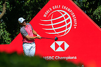 Alex Noren (SWE) on the 9th tee during the final round at the WGC HSBC Champions 2018, Sheshan Golf CLub, Shanghai, China. 28/10/2018.<br /> Picture Fran Caffrey / Golffile.ie<br /> <br /> All photo usage must carry mandatory copyright credit (&copy; Golffile | Fran Caffrey)