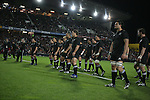 The All Blacks line up to perform the haka before the Iveco rugby union international test match between the All Blacks and Canada at Waikato Stadium, Hamilton, New Zealand on Saturday 16 June 2007. The All Blacks won the match 64 - 13.