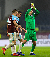 Burnley's Tom Heaton celebrates after the match<br /> <br /> Photographer Alex Dodd/CameraSport<br /> <br /> The Premier League - Burnley v Fulham - Saturday 12th January 2019 - Turf Moor - Burnley<br /> <br /> World Copyright © 2019 CameraSport. All rights reserved. 43 Linden Ave. Countesthorpe. Leicester. England. LE8 5PG - Tel: +44 (0) 116 277 4147 - admin@camerasport.com - www.camerasport.com