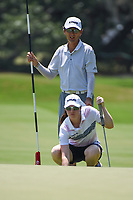 Leona Maguire (IRL) lines up her putt on 4 during round 1 of the 2019 US Women's Open, Charleston Country Club, Charleston, South Carolina,  USA. 5/30/2019.<br /> Picture: Golffile | Ken Murray<br /> <br /> All photo usage must carry mandatory copyright credit (© Golffile | Ken Murray)