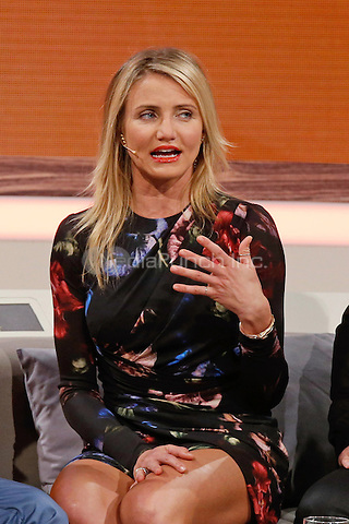 "Cameron Diaz during the 212nd Episode of the German Tv Show ""Wetten dass...?"" ( You Bet! and Wanna Bet?) at the Baden Arena in Offenburg, 05.04.2014. Credit: Hofer/Insight/MediaPunch ***FOR USA ONLY***"
