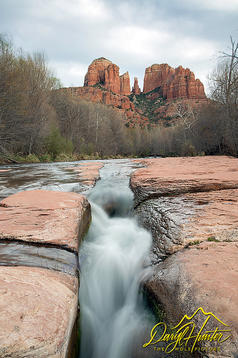 Sedona Arizona's Oak Creek and Castle Rock. Oak Creek is a nice accent for the high red rock desert country.