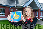 Ciara O'Connor from Mean Scoil Nua and Leith Triuigh in Castlegregory was delighted her card design was featured on RTE's Late Late Show on Friday night.