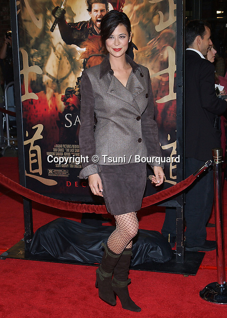 """Catherine Bell arriving at the """" The Last Samurai Pemiere """" at the Westwood Village in Los Angeles. December 1, 2003."""
