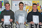 DONE WELL: The students of Tralee Community College who done well in the Leaving Cert on Wednesday l-r: Christopher Moriarty, Manor Village, Anthony Ryle, Manor West and Shane Fi?n, Fenit..   Copyright Kerry's Eye 2008
