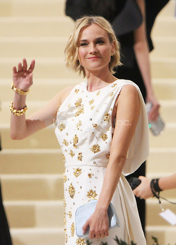 NEW YORK, NY May 01, 2017 Diane Kruger attend  The Metropolitan Museum of Art Costume Institute Benefit Gala for Rei Kawakubo Comme des Garcons at  Metropolitan Museum of Art  in New York May 01,  2017. Credit:RW/MediaPunch