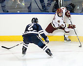 Jimmy Martin (Yale - 2), Cam Atkinson (BC - 13) - The Boston College Eagles defeated the Yale University Bulldogs 9-7 in the Northeast Regional final on Sunday, March 28, 2010, at the DCU Center in Worcester, Massachusetts.