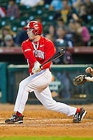 Matt Creel #43 of the Houston Cougars follows through on his swing against the Kentucky Wildcats at Minute Maid Park on March 5, 2011 in Houston, Texas.  Photo by Brian Westerholt / Four Seam Images