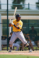 Pittsburgh Pirates Julio De La Cruz (54) during an instructional league intrasquad black and gold game on September 23, 2015 at Pirate City in Bradenton, Florida.  (Mike Janes/Four Seam Images)