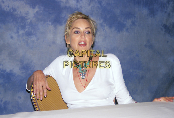 SHARON STONE.headshot, portrait necklace, jewellery.www.capitalpictures.com.sales@capitalpictures.com.© Capital Pictures.