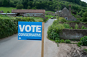 Vote Conservative sign, Herefordshire