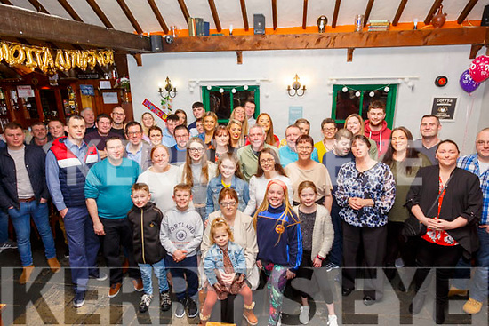 70th Birthday: Kay Daly, Ballyduff, seated front celebrating her surprise 70th birthday with family & friends at The Thatch Bar, Liselton on Friday night last.