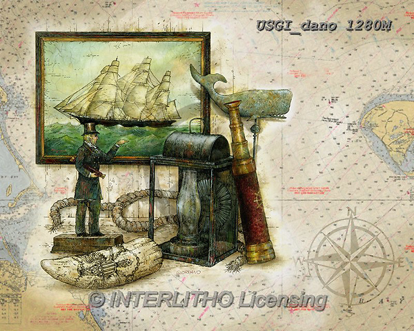 GIORDANO, CUTE ANIMALS, LUSTIGE TIERE, ANIMALITOS DIVERTIDOS, paintings+++++,USGIDANO1280M,#ac#, EVERYDAY,moby dick,wale,ship,maritime