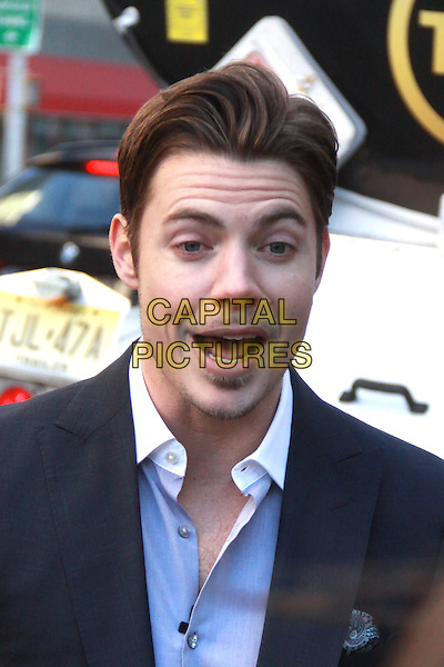 NEW YORK, NY - FEBRUARY 24: Josh Henderson launches the first-ever Ewing Energies flagship gas station in New York City celebrating the season three premiere of TNT's Dallas on February 24, 2014, in New York, NY., USA.<br /> CAP/MPI/RW<br /> &copy;RW/ MediaPunch/Capital Pictures