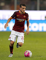 Calcio, Serie A: Frosinone vs Roma. Frosinone, stadio Comunale, 12 settembre 2015.<br /> Roma&rsquo;s Alessandro Florenzi in action during the Italian Serie A football match between Frosinone and Roma at Frosinone Comunale stadium, 12 September 2015.<br /> UPDATE IMAGES PRESS/Riccardo De Luca