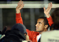 SAO PAULO SP, 03 Julho 2013 - Sao Paulo  X Corinthians.   Lucas aparece  durante primeira partida da final da recopa sulamericana  de 2013  no Estadio do Morumbi em  Sao Paulo, nesta quarta , 03. (FOTO: ALAN MORICI / BRAZIL PHOTO PRESS).