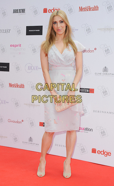 Kate Walsh .The FiFi UK Fragrance Awards 2012 at The Brewery, Chiswell Street, London, England..May 17th 2012.full length white grey gray dress clutch bag.CAP/BEL.©Tom Belcher/Capital Pictures.