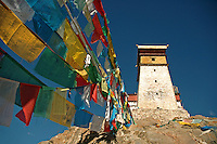 The tower of the Yumbulagang fortress in Tibet is the most impressive feature of this impressive structure. Most of what can be visited today dates from a reconstruction in 1982.