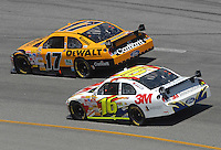 May 6, 2007; Richmond, VA, USA; Nascar Nextel Cup Series driver Matt Kenseth (17) leads teammate Greg Biffle (16) during the Jim Stewart 400 at Richmond International Raceway. Mandatory Credit: Mark J. Rebilas