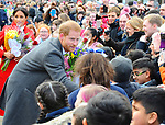 The Duke and Duchess Of Sussex, visit Birkenhead. Meeting local school children and members of public, before visiting the Townhall, Hamilton Square Birkenhead Liverpool. 14.01.19