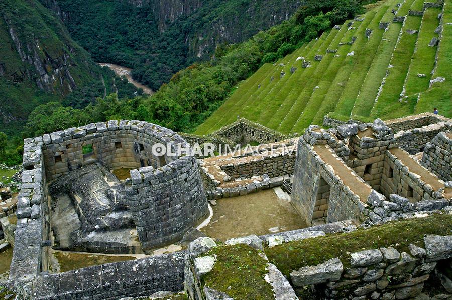 Ruínas da cidade Inca de Machu Pichu, Cuzco. Peru. 2006. Foto de Flávio Bacellar.