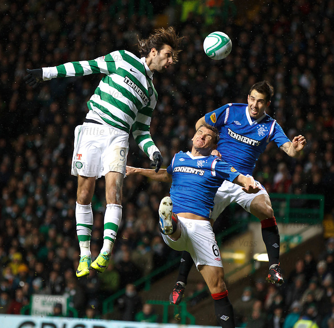 Georgios Samaras with Lee McCulloch and Carlos Bocanegra