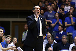 30 November 2014: Duke head coach Mike Krzyzewski. The Duke University Blue Devils hosted the West Point Military Academy Army Black Knights at Cameron Indoor Stadium in Durham, North Carolina in a 2014-16 NCAA Men's Basketball Division I game. Duke won the game 93-73.