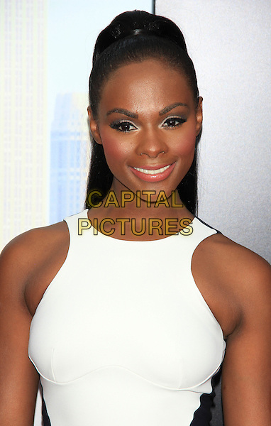 "Tika Sumpter.The Premiere of ""Madea's Witness Protection"" held at AMC Loews Lincoln Square Cinemas, New York, NY., USA..June 25th, 2012.headshot portrait black white blue sleeveless  .CAP/LNC/TOM.©LNC/Capital Pictures."