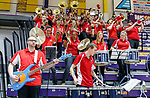 Stony Brook defeats UAlbany  69-60 in the America East Conference tournament quaterfinals at the  SEFCU Arena, Mar. 3, 2018.  Stony Brook pep band.