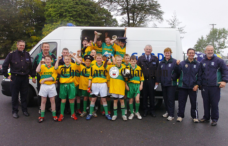 The Ennis North team who took part in the Garda Football Tournament pictured at St Flannans Ennis.Pic Arthur Ellis.