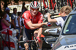 Andre Greipel (GER) Lotto-Soudal receives medical treatment after crashing during Stage 9 of the 2018 Tour de France running 156.5km from Arras Citadelle to Roubaix, France. 15th July 2018. <br /> Picture: ASO/Pauline Ballet | Cyclefile<br /> All photos usage must carry mandatory copyright credit (&copy; Cyclefile | ASO/Pauline Ballet)