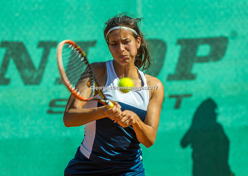 The Hague, Netherlands, 11 June, 2017, Tennis, Play-Offs Competition, Joany Pontjodikromo (NED)<br /> Photo: Henk Koster/tennisimages.com