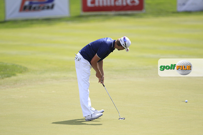 Rikard Karlberg (SWE) on the 7th green during Round 1 of the D+D Real Czech Masters at the Albatross Golf Resort on Thursday 27th August 2015.<br /> Picture:  Thos Caffrey / www.golffile.ie