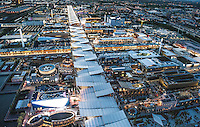 Veduta aerea dell'Expo Milano 2015<br />