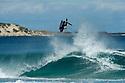 Michael Novy doing an air at Indjinup in Yallingup, Western Australia.