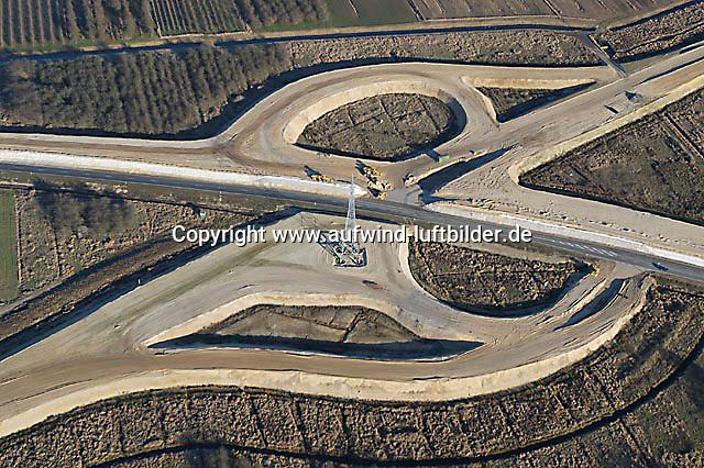 Deutschland, Hamburg, Niedersachsen, Stade, Autobahn, A26, Baustelle, Bundesautobahn