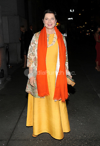 New York, NY- October 23: Isabella Rossellini spotted on Wall Street attending the 31st annual FGI Night Of Stars event at Cipriani Wall Street on October 23, 2014 in New York City. Credit: John Palmer/MediaPunch