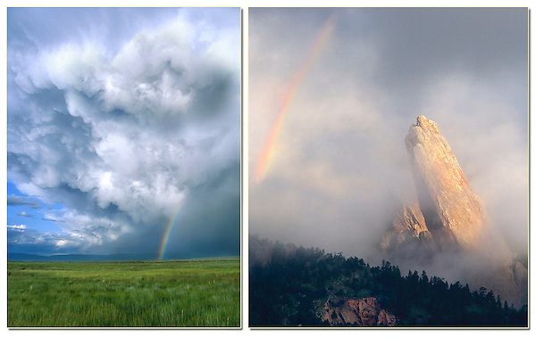 A rare morning rainbow and the Third Flatiron. <br /> Private photo tours of Boulder and nearby areas, led by John Kieffer. Click the above  CONTACT  button for inquiries.