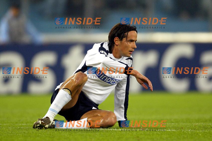 Roma 4/11/2003 Champions League<br /> Lazio Chelsea 0-4 <br /> Filippo Inzaghi (Lazio)<br /> Foto Andrea Staccioli / Insidefoto