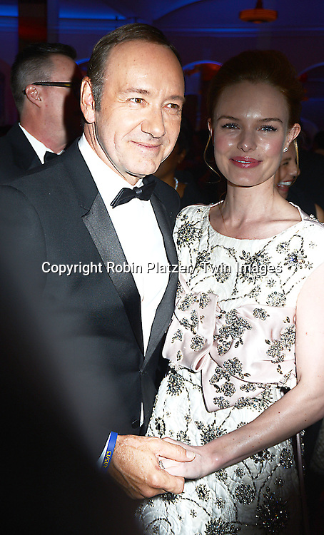 Kevin Spacey and Kate Bosworth attend the Museum of the Moving Image Tribute to Kevin Spacey on April 9, 2014 at 583 Park Avenu in New York City, New York, United States of America.