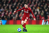 Liverpool's Andrew Robertson in action<br /> <br /> Photographer Richard Martin-Roberts/CameraSport<br /> <br /> UEFA Champions League Group C - Liverpool v Napoli - Tuesday 11th December 2018 - Anfield - Liverpool<br />  <br /> World Copyright © 2018 CameraSport. All rights reserved. 43 Linden Ave. Countesthorpe. Leicester. England. LE8 5PG - Tel: +44 (0) 116 277 4147 - admin@camerasport.com - www.camerasport.com