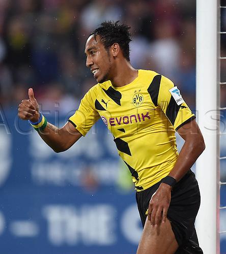 29.08.2014. Augsburg, Germany. Bundesloga Football. Augsburg versus Borussia Dortmund.  Pierre-Emerick Aubameyang