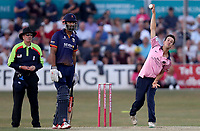 Nathan Sowter in bowling action for Middlesex during Essex Eagles vs Middlesex, Vitality Blast T20 Cricket at The Cloudfm County Ground on 6th July 2018