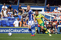 Kristian Pedersen of Birmingham City runs with the ball during Birmingham City vs Norwich City, Sky Bet EFL Championship Football at St Andrews on 4th August 2018