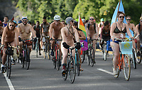 9th Annual Naked Bike Ride Through Philadelphia