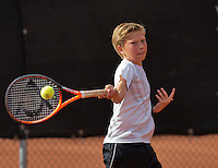 Netherlands, Rotterdam August 05, 2015, Tennis,  National Junior Championships, NJK, TV Victoria, Stijn Paardekoper  Teun Rozenberg<br /> Photo: Tennisimages/Henk Koster