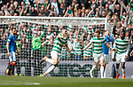 29.04.18 Celtic v Rangers: Tom Rogic celebrates goal no 4