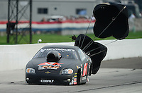 Aug. 31, 2012; Claremont, IN, USA: NHRA pro stock driver Erica Enders during qualifying for the US Nationals at Lucas Oil Raceway. Mandatory Credit: Mark J. Rebilas-